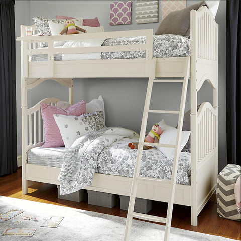 Genevieve Bunk Bed- Twin - Avail in Off-White - Smartstuff -usa baby