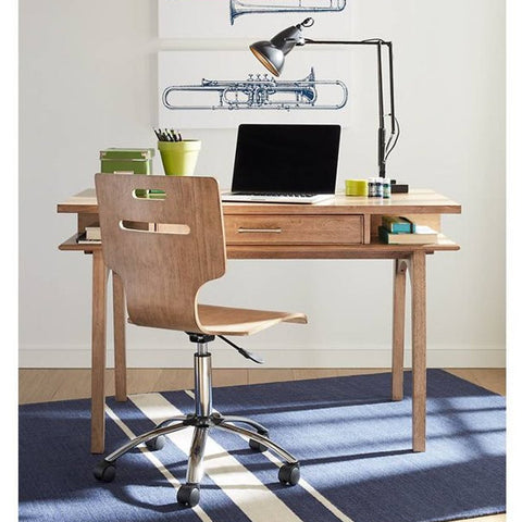 Chelsea Square Desk - Avail in Light or Dark Stain - Stone & Leigh -usa baby