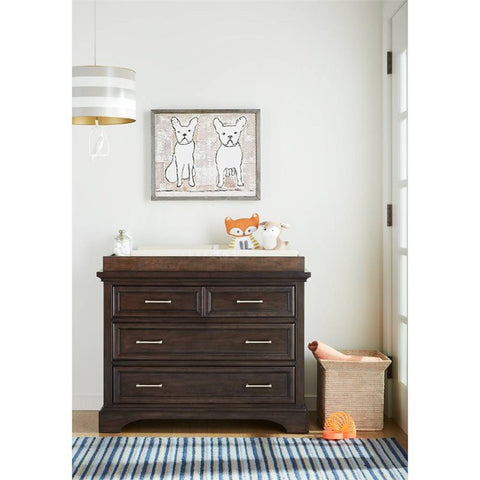 Chelsea Square Single Dresser - Avail in Light or Dark Stain - Stone & Leigh -usa baby