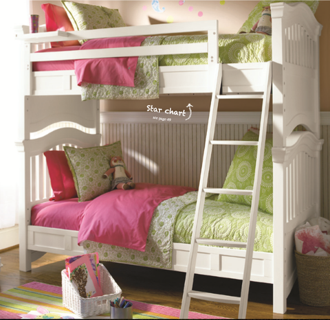 Classics Bunk Bed Twin - Avail in White, Cherry or Medium Stain - Smarstuff -usa baby