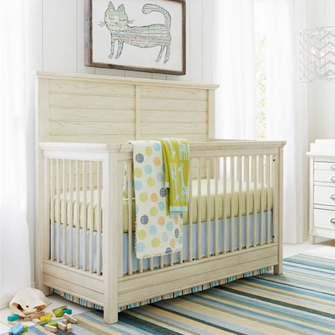 Driftwood Park Crib - Avail in Off-White Weathered or Medium Weathered - Stone & Leigh -usa baby