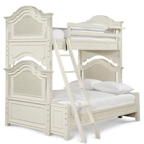 Gabriella Bunk Bed- Twin Over Full - Avail in Off-White - Smartstuff -usa baby