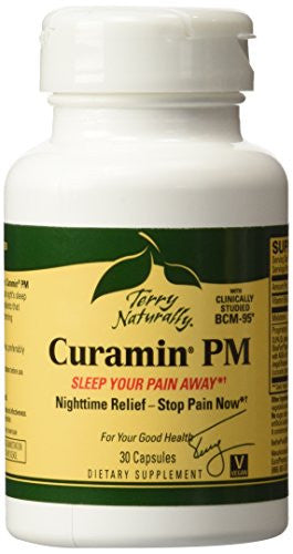 Terry Naturally Curamin PM Nighttime Pain Relief with Clinically Studied BCM95 Curcumin 30 Caps