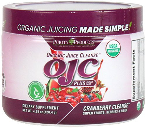 Certified Organic Juice Cleanse - OJC Plus - Cranberry Cleanse 14 Day Supply...