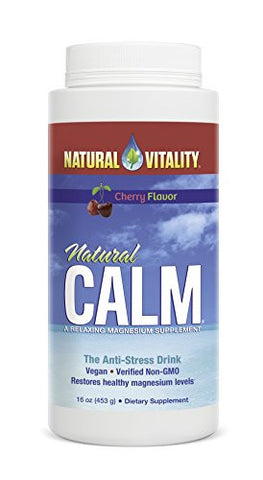 Natural Vitality Natural Calm Magnesium Anti Stress, Organic, Cherry, 16 oz