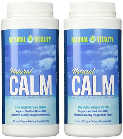 Natural Vitality Natural Magnesium Calm (2 Bottles of 16 Ounce)
