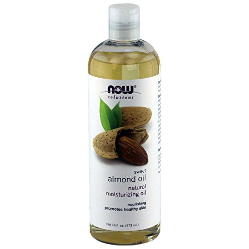 NOW solutions Sweet Almond Oil, Moisturizing Oil, 16 ounce