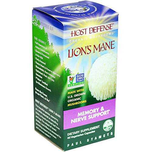 Host Defense® Lion's Mane Capsules, Memory & Nerve Support, 60 count