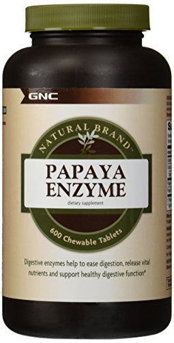 Natural BrandTM Papaya Enzyme, 600 chewable Tablets