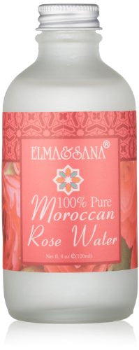 Elma and Sana 100% Pure Moroccan Rose Water, 4 Ounce