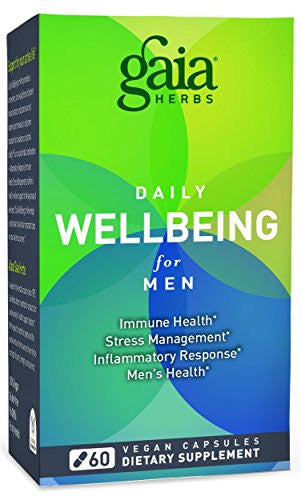 Gaia Herbs Daily Wellbeing Supplement for Men, 60 Count
