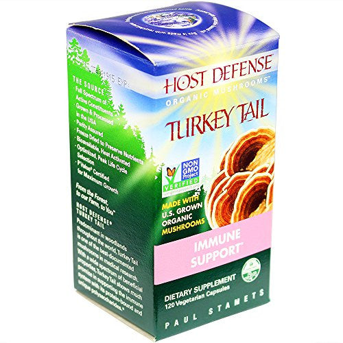 Host Defense® Turkey Tail Capsules, Immune Support, 120 count