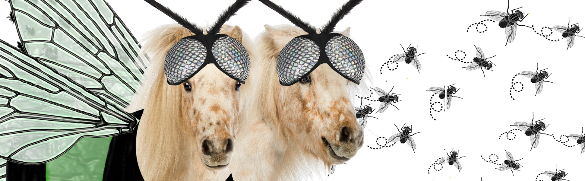 ponies dressed as horse flies