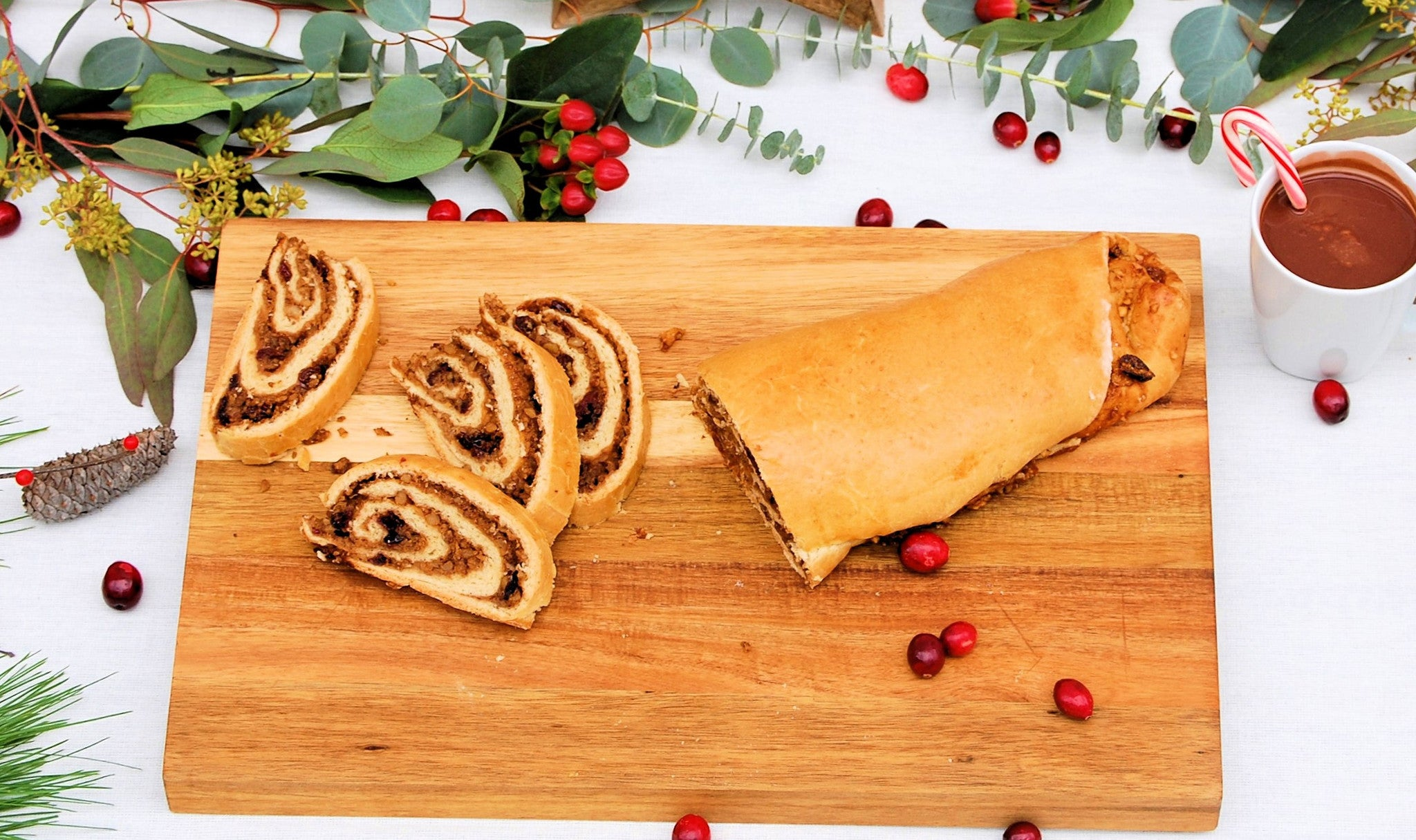 Holiday Walnut Cranberry Roll