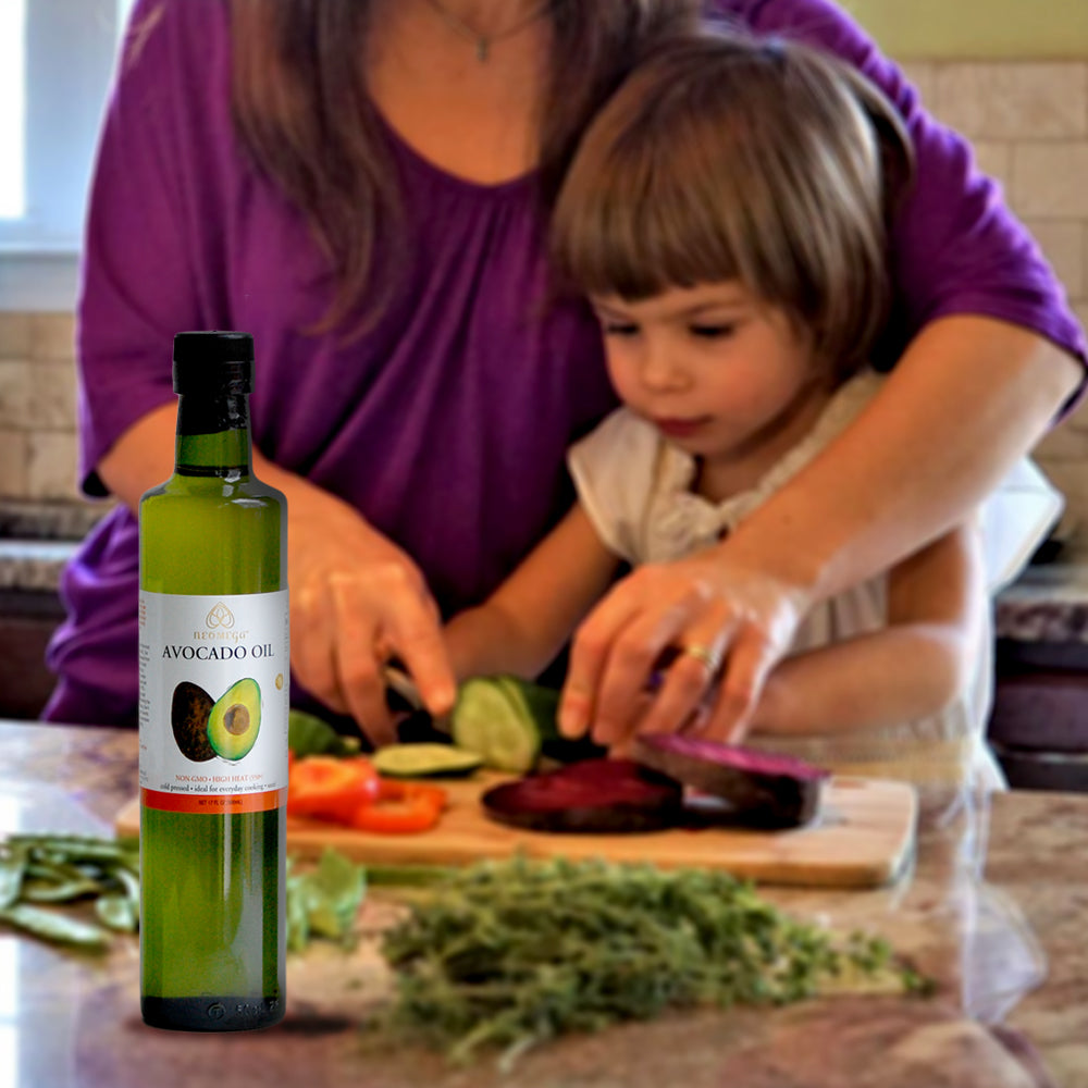 cooking with kids, recipes with avocado oil, best tasting avocado oil, quality avocado oil
