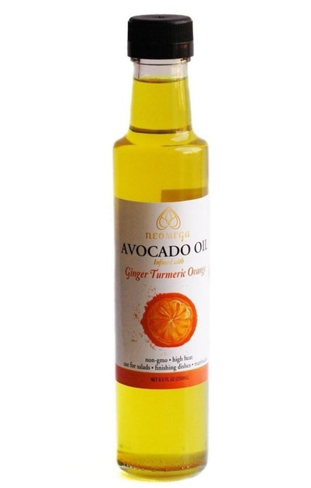 paleo cooking oil, organic avocado oil, turmeric, ginger, functional food, anti inflammatory, high heat, citrus flavor, avocado oil