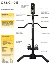 Load image into Gallery viewer, Cascade Climber Vertical Climbing Machine - EWOT