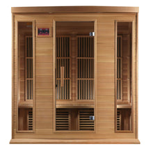 "Load image into Gallery viewer, Golden Designs Maxxus ""Chaumont Edition"" 4 Person Near Zero EMF FAR Infrared Sauna - Canadian Red Cedar - EWOT"