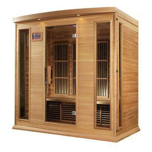 "Golden Designs Maxxus ""Chaumont Edition"" 4 Person Near Zero EMF FAR Infrared Sauna - Canadian Red Cedar - EWOT"