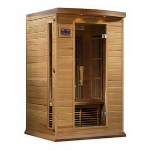 "Golden Designs Maxxus ""Cholet Edition"" 2 Person Near Zero EMF FAR Infrared Sauna - Canadian Red Cedar - EWOT"