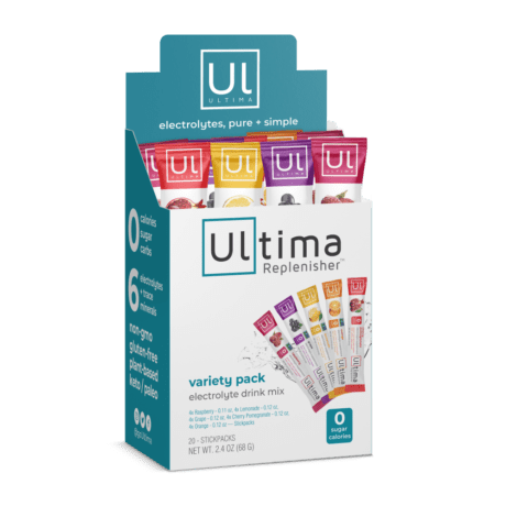 Ultima Replenisher Electrolyte Variety Pack 20 Count Stickpack Box - EWOT
