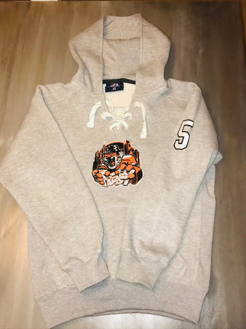 Frenzy Hooded Lace Sweatshirt w/ Number on Sleeve