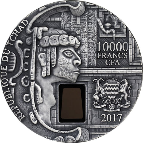 2017 Chad 1 Kilogram Uxmal Ancient Mayan City Ultra High Relief Silver Coin Obv