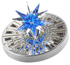 2017 Cook Islands 1 Kilogram Giant Moravian Star Swarovski Crystal St. Peter's Basilica Silver Coin - Art in Coins