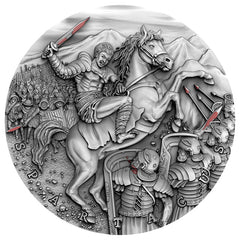 2017 Niue 2 Ounce Spartacus Slave Revolt High Relief Silver Coin - Art in Coins