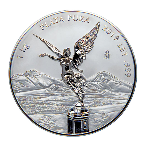 2019 MEXICO 1 KILOGRAM LIBERTAD .999 PROOF LIKE SILVER COIN