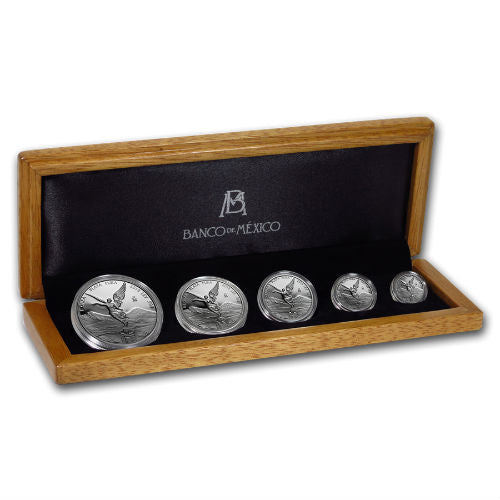 2019 5 COIN MEXICAN LIBERTAD .999 SILVER PROOF COIN SET