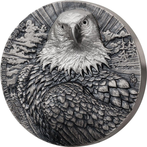 2020 Ivory Coast 5 Ounce De Greef Edition Signature Eagle Silver Coin 2