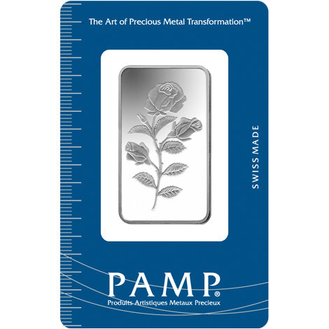 PAMP 1/2 Ounce Rosa .999 Rectangular Silver Bar - Sealed Assay