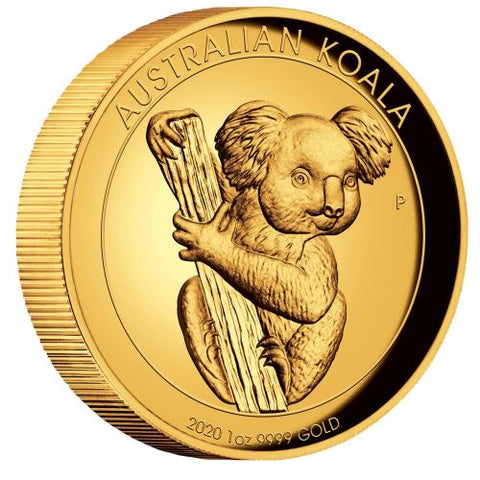 2020 Australia 1 Ounce Koala High Relief Gold Proof Coin