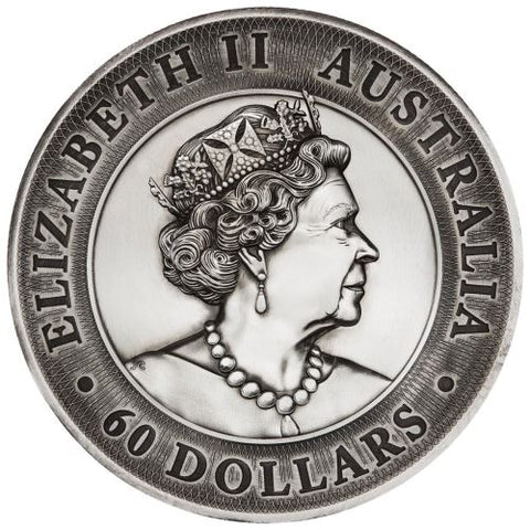 2020 2 Kilo Kookaburra High Relief Silver Coin