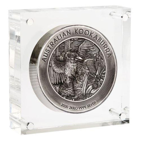 2020 Australia 2 Kg Kookaburra High Relief Antique Finish Silver Coin