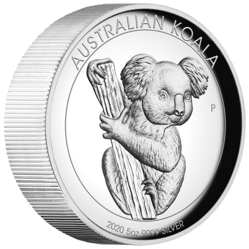 2020 AUSTRALIAN 5 OUNCE KOALA HIGH RELIEF SILVER PROOF COIN