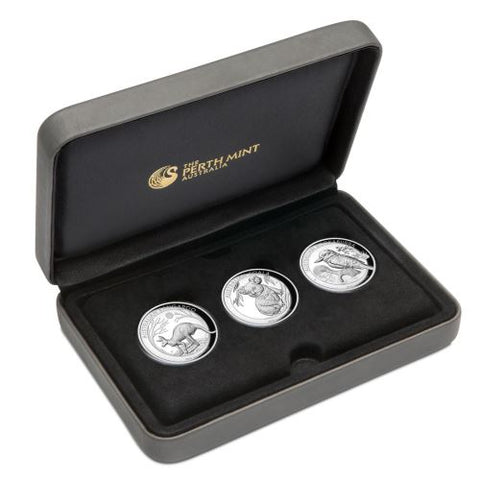 2019 Australia 3 Coin 1 Ounce High Relief Silver Proof Coin Collection