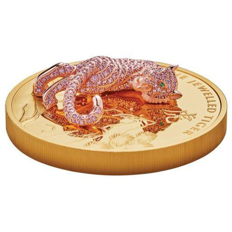 2020 10 Ounce Jewelled Tiger Gold Proof Coin