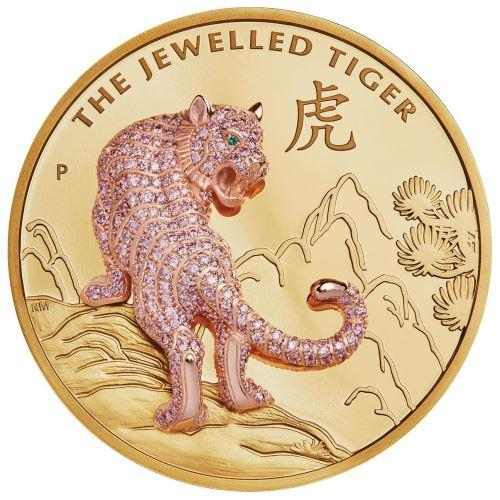 2020 Australia 10 Ounce Jewelled Tiger Gold Proof Coin