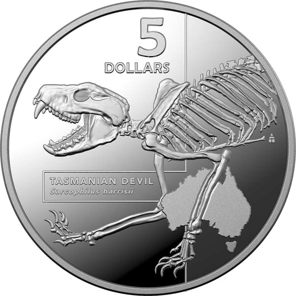 2020 AUSTRALIA 1 OUNCE INSIDE AUSTRALIA'S MOST DANGEROUS - TASMANIAN DEVIL SILVER PROOF COIN