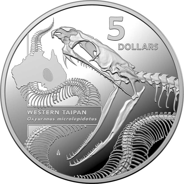 2020 AUSTRALIA 1 OUNCE INSIDE AUSTRALIA'S MOST DANGEROUS - WESTERN TAIPAN SILVER PROOF COIN