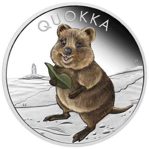 2021 Australia 1 Ounce Quokka Color Silver Proof Coin