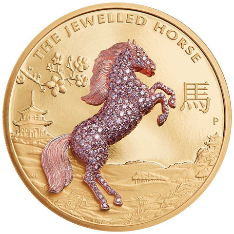 2021 Australia 10 Ounce Jewelled Horse Gold Proof Coin