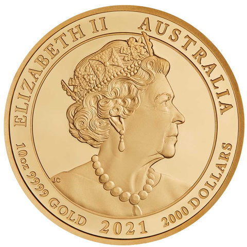 2021 Australia 10 Ounce Jewelled Horse Gold Proof Coin Perth Mint