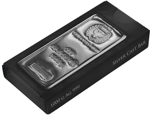 Germania 1000 Gram .999 Silver Cast Bar