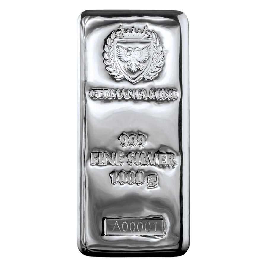 Germania 1 Kilogram .999 Silver Cast Bar
