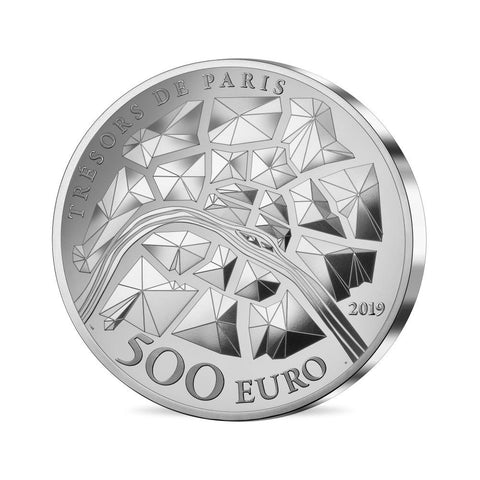 2019 1 Kilogram Eiffel Tower Silver Coin