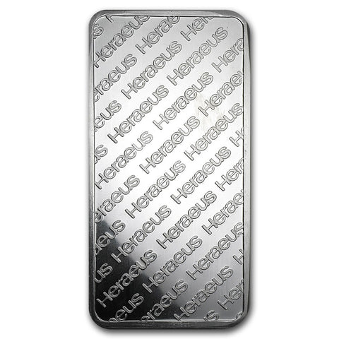 10 Ounce Heraeus .999 Silver Bar