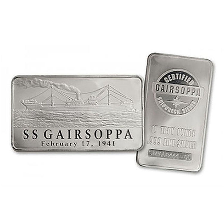 10 Ounce S.S. Gairsoppa Shipwreck .999 Silver Bar - Art in Coins